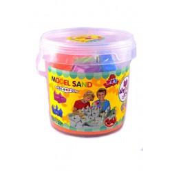 Tekutý kinetický písek střední set 1000g - plastový box