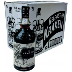 Kraken black spiced rum 40% 6x700ml