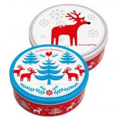 Máslové sušenky ve vánoční plechové dóze 454g