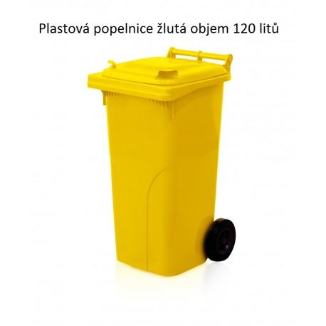 Popelnice 120 žlutá