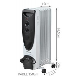 Olejový radiátor 1500W - 7 žeber - Kaminer 2842 1x1ks
