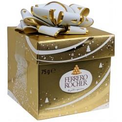 Ferrero Rocher dárkové balení zlatá kostka 1x75g