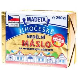 Jihočeské nedělní máslo se smetanovým zákysem Madeta 77% 1x250g