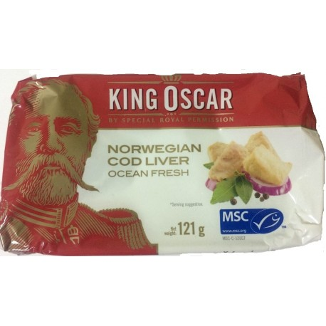 Tresčí játra norská ve vlast.oleji 121g King Oscar