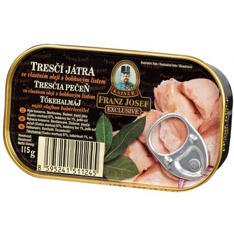 Tresčí játra ve vlastním oleji s bobkovým listem - Franz Josef 115g