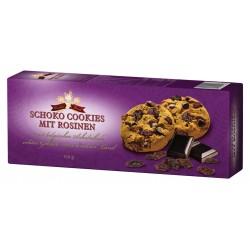 Cookies sušenky s kousky čokolády a s rozinkami - Cookies Land 150g