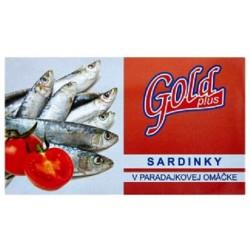 Sardinky v tomatové omáčce - Gold Plus 125g