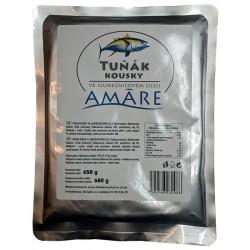 Tuňák kousky ve slunečnicovém oleji Amáre 1x650g