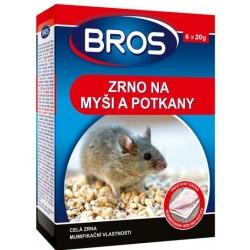 Otrávená nástraha zrno na myši, krysy a potkany Bros 6x20g