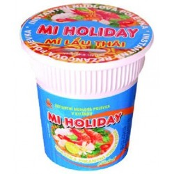 Instantní Thajská pikantní nudlová polévka s krevetí příchutí v kelímku Mi Holiday 1x60g