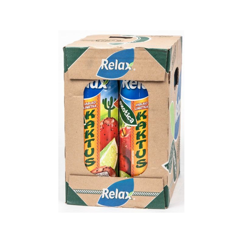 Relax džus Exotica Kaktus+jablko+limetka 6x1litr