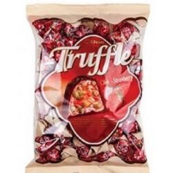 Čokoládové bonbóny plněné praženou rýží a jahodovou náplní Truffle - Elvan 1kg