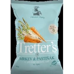 Tretter´S Mrkev&Pastiňák s příchutí mořská sůl zeleninové chipsy 1x90g