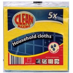 Utěrky pro domácnost Clean Maximo 1x(5ks35x35cm)