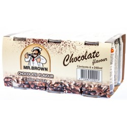 Mr. Brown Chocolate Flavour Coffee Drink 4x(6x240ml)
