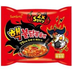 Super 2x pálivá instantní kuřecí nudlová polévka v sáčku - Samyang 140g