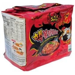 Super 2x pálivá instantní kuřecí nudlová polévka v sáčku - Samyang 5x140g