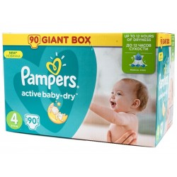 Pampers Plenky Active Baby Giant box Maxi S4 7-14kg 1x90ks