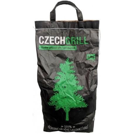 100% přírodní dřevěné grilovací uhlí Czechgrill 2,5kg+,- 5%