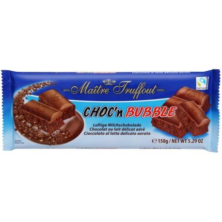 Bublinková mléčná čokoláda (nejméně 30% kakaa) Maitre Truffout 1x150g