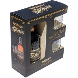Božkov Republica Exclusive rum + 2 ks sklenice 38% 6x500ml
