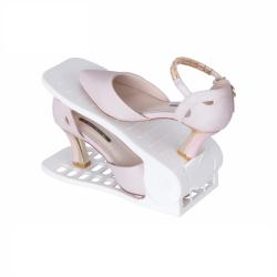Plastový organizér na boty - bílý