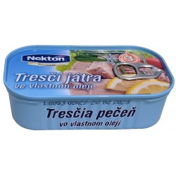 Tresčí játra ve vlastním oleji Premium Nekton 1x115g