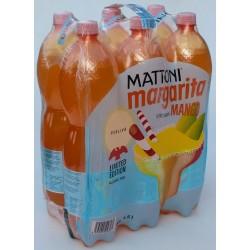 Minerální voda perlivá Margarita s příchutí mango Mattoni 6x1,5l