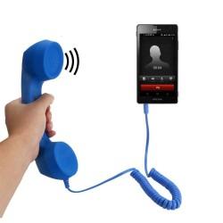 Retro sluchátko na mobil - modré
