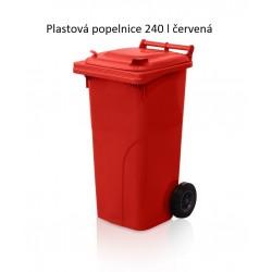 Popelnice 240 červená