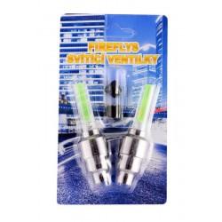 Svítící ventilky zelené 2ks