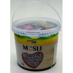 Zapékané křupavé Müsli s jahodami Bonavita plastový kyblík 1x2kg