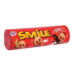 Sušenky ve tvaru smajlíka a čokoládovou náplní - Kif 190g