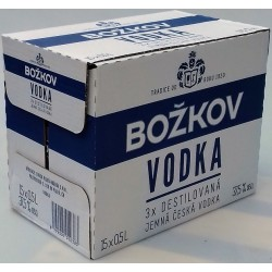 Božkov vodka 3x destilovaná 37,5% 15x0,5l