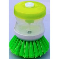 Kartáč na nádobí s dávkovačem saponátu zelený