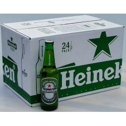 Pivo světlý ležák pasterizovaný Heineken nevratná láhev 24x330ml