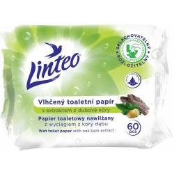 Vlhčený toaletní papír s extraktem z dubové kůry Linteo 1x60ks