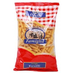 Semolinové těstoviny z tvrdé pšenice vřetena Fusilli Famiglia 500g