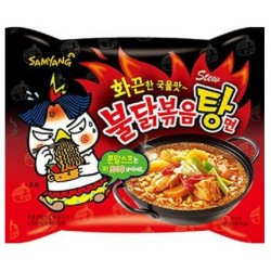 Pálivá instantní kuřecí nudlová polévka v sáčku Samyang 1x145g