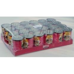 Kompletní krmivo pro dospělé kočky - kousky s hovězím a játry v želé Propesko 24x415g