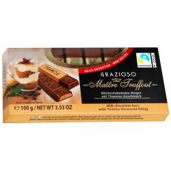 Mléčná čokoláda s náplní Tiramisu Maitre Truffout 1x(8x12,5g)100g