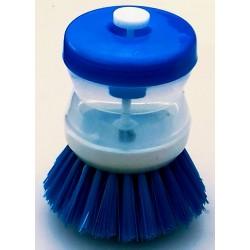 Kartáč na nádobí s dávkovačem saponátu barva modrá