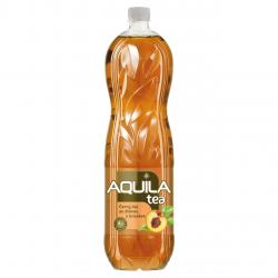 Černý čaj se šťávou z broskve nesycený Aquila tea Pet 1,5l
