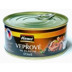 Vepřové na vlastní šťávě prémiová kvalita 90% masa Hamé 290g
