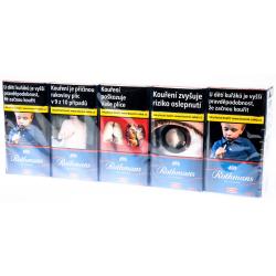 Kartonové balení tvrdá krabička cigarety s filtrem Rothmans of London Red 100's kolek F 110 Kč 10x20ks