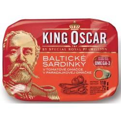 Baltické sardinky v tomatové omáčce King Oscar 1x110g