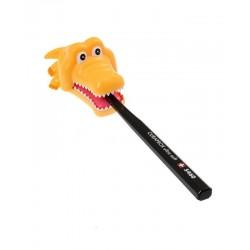 Držák na kartáček krokodýl - žlutý