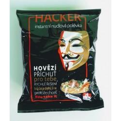 Instantní hovězí nudlová polévka Hacker 1x68g