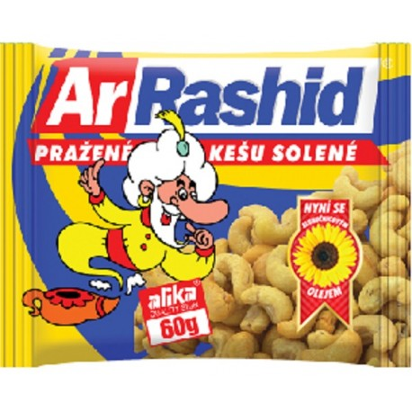 Pražené kešu solené ArRashid 60g