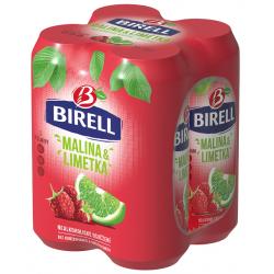 Nealkoholický osvěžující nápoj s vitamíny limetka&malina plech Birell 4x0,5l